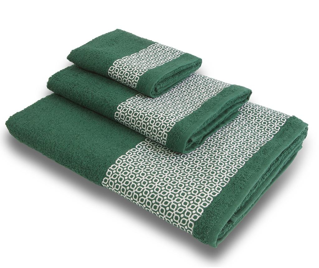 Sada 3 ručníků Vintage Mood Green