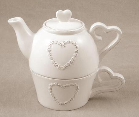 Комплект чайник и чашка Pure Heart