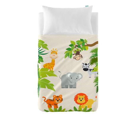 Детски комплект долен чаршаф и калъфка за възглавница Jungle Extra Uni
