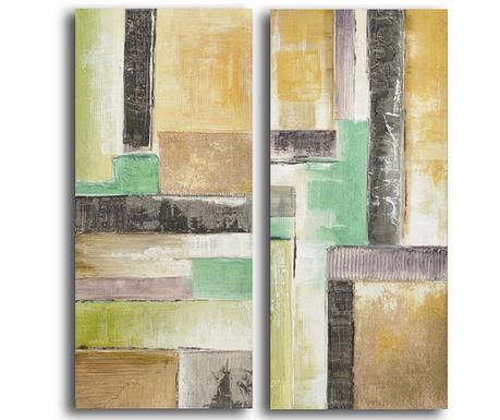 Set 2 tablouri Colored Shapes 40x90 cm