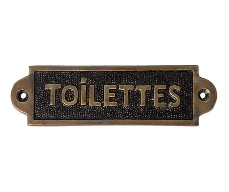 Dekoracija za na vrata Toilettes Plaque