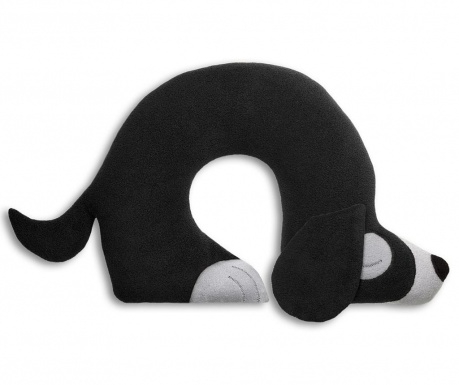 Jastuk za vrat Charlie Dog Black 32x40 cm