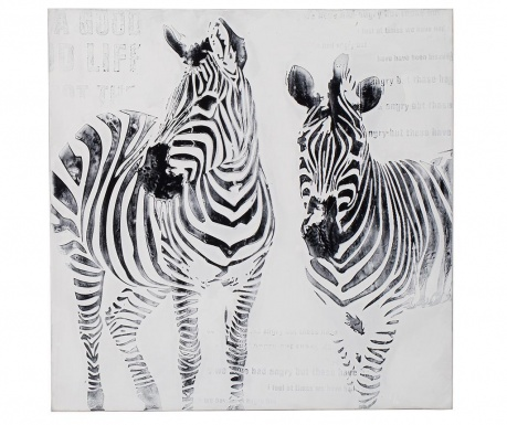 Zebra Festmény 80x80 cm