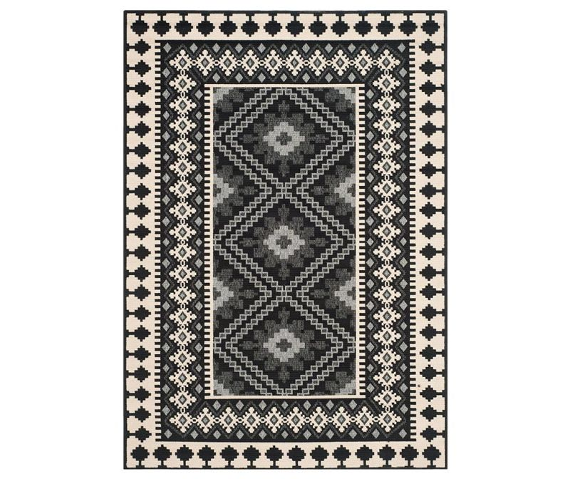 Covor Ratia Black Cream 120x180  cm