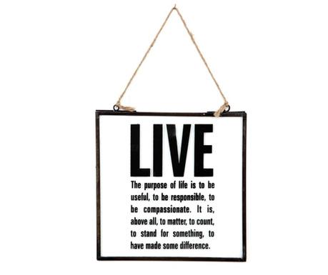 Stenska dekoracija Live & Love