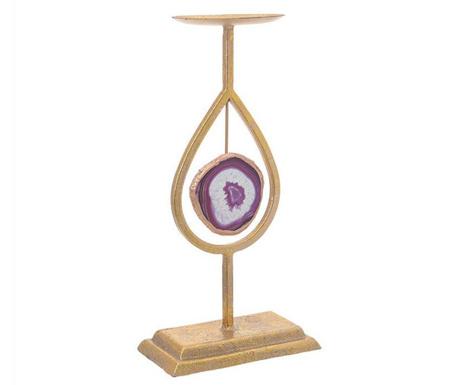 Świecznik Travis Purple Tall