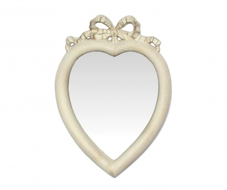 Ogledalo Heart Antique White