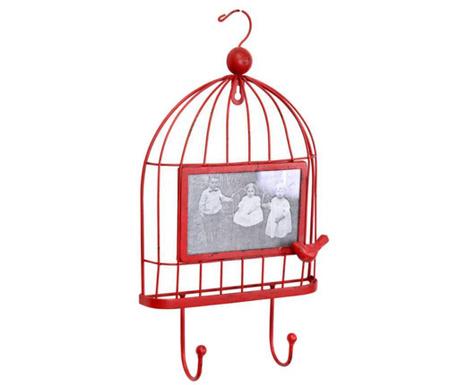 Obešalnik s foto okvirjem Cage Red