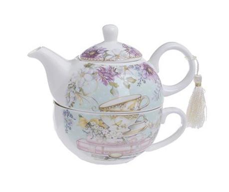 Set ceainic cu ceasca Tea and Roses