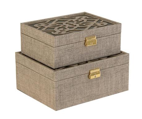 Set 2 cutii cu capac Salzburg