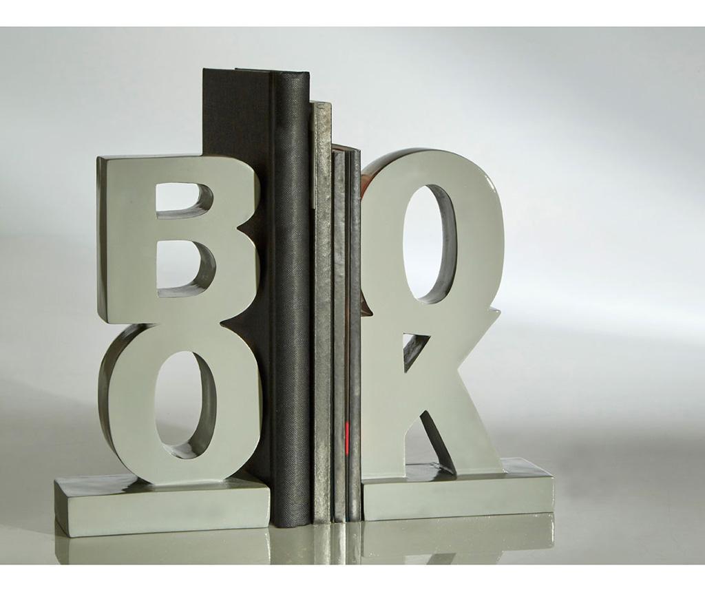 Set 2 suporturi pentru carti Book Grey