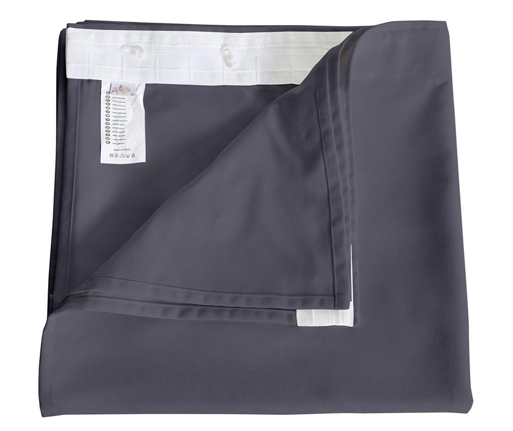 Zastor Plain Grey Plum 140x270 cm