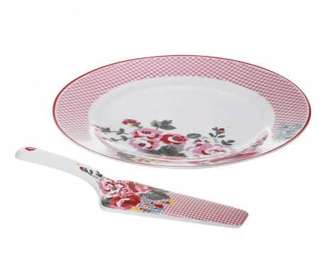 Set of dinner plate and dessert spatula Pippa