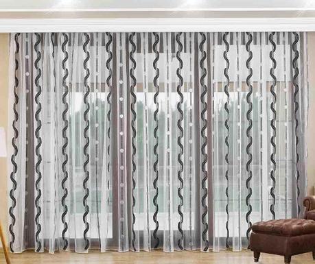 Záclona Manon Black 200x260 cm