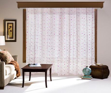Záclona Vernie Pink 200x260 cm