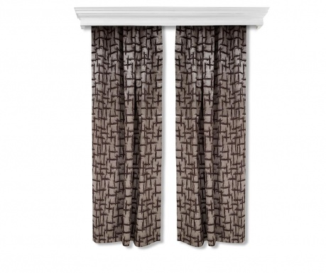 Set of 2 drapes Else Dark Brown 150x260 cm