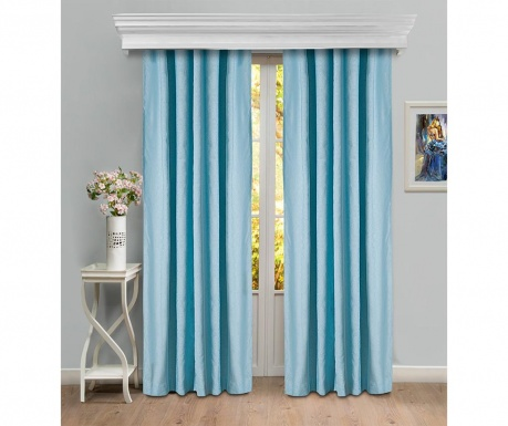 Set of 2 drapes Emmaline	Blue 150x260 cm