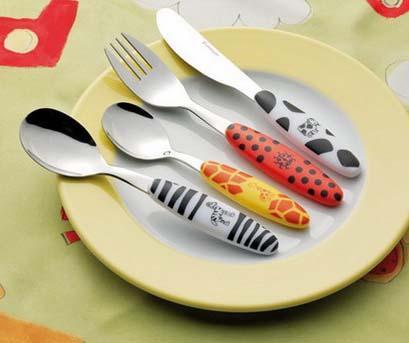 4-dijelni dječji pribor za jelo Safari