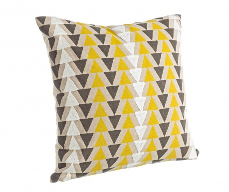 Perna decorativa Colored Triangles 45x45 cm