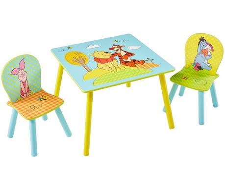 Детски комплект маса и 2 стола Winnie the Pooh