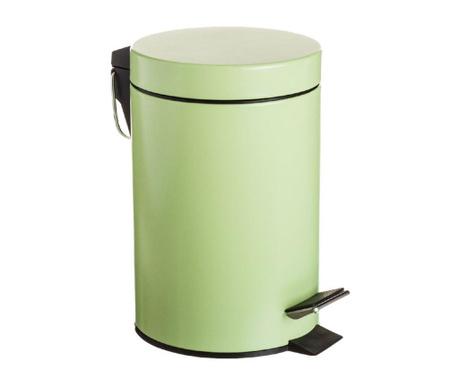 Kosz na śmieci z pokrywą i pedałem Hele Green 3 L