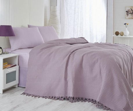 Jesse Purple Pique ágytakaró 220x240 cm