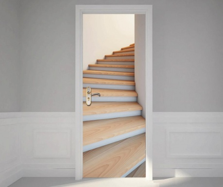 Naklejka na drzwi Stairwell Self
