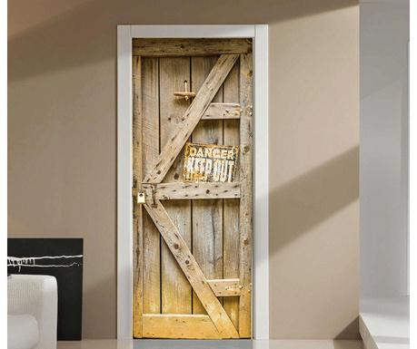 Naklejka na drzwi Danger Keep Out