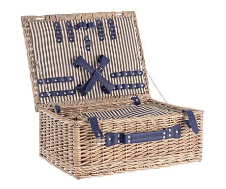 Кошница за пикник за четирима Navy Stripes