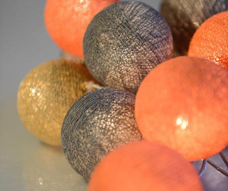 Ghirlanda luminoasa Peach Marble