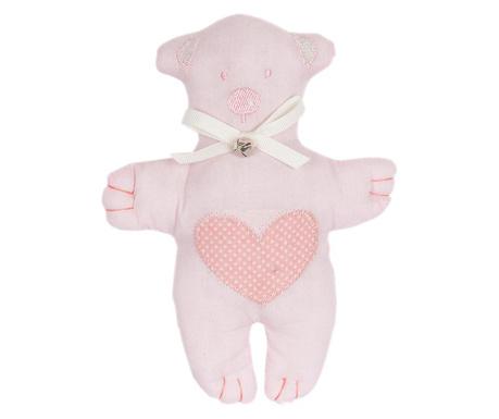 Teddybear Heart Pink Plüss Játék