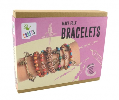 Zestaw do kreowania biżuterii 150 elementów Folk Bracelets