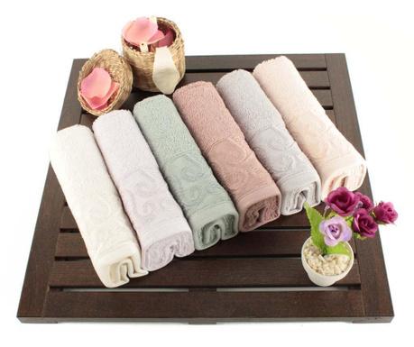 Zestaw 6 ręczników kąpielowych Pastel Paisley 30x50 cm