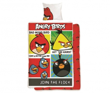 Komplet pościeli Single Ranforce Extra Angry Birds Join the Flock