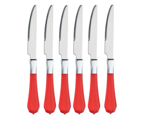 Комплект 6 ножа Romantic Scarlet