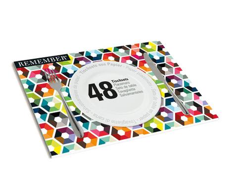 Set 48 individualuri Pattern 30x42 cm