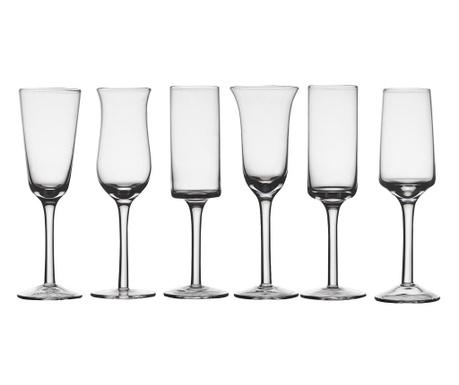 Сервиз 6 чаши със столче Grappa Clear 150 мл