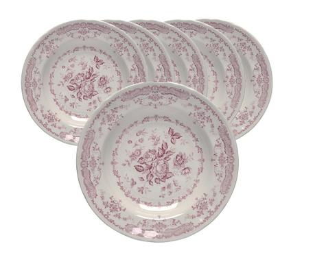 Сервиз 6 дълбоки чинии Roccoco Pink