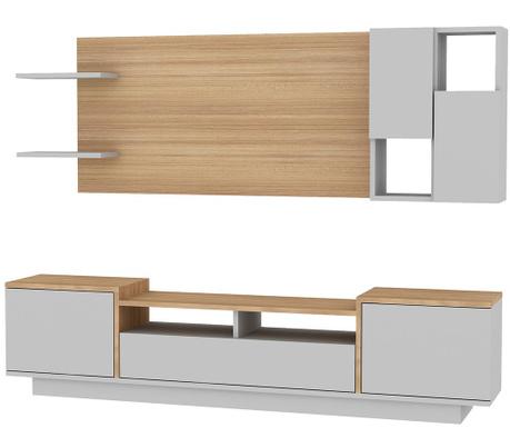 Комплект комода TV  и висящ  модул Siva