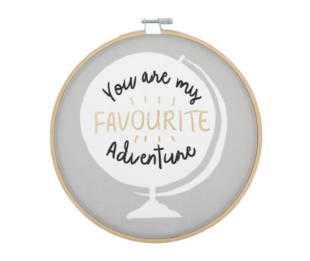 Zidni ukras You Are My Favourite Adventure