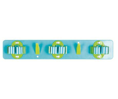 Βάση τοίχου για σκούπα Trio Blue Green