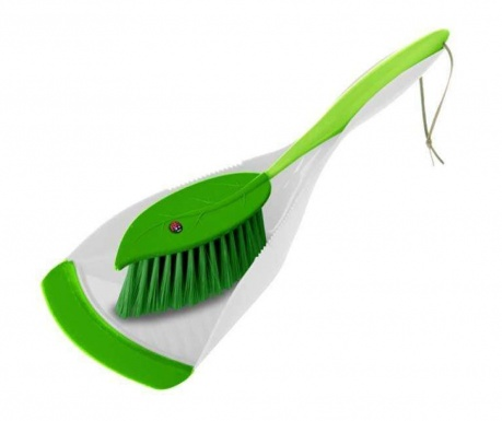 Σετ βούρτσα και φαράσι Leaf White Green
