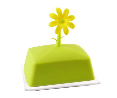 Βουτυριέρα με καπάκι Livio Flower Green
