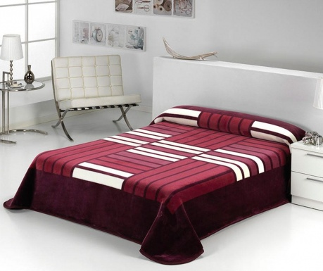 Κουβέρτα Tokyo Stripes Aubergine 220x240 cm