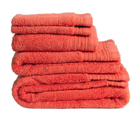 Πετσέτα μπάνιου Lisa Coral 50x100 cm