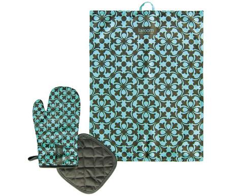 Set 3 piese de bucatarie Mosaic Green