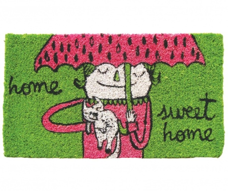 Covoras de intrare Sweet Home Green 40x70 cm