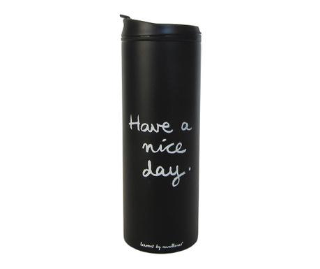 Cana calatorie Nice Day Black 400 ml