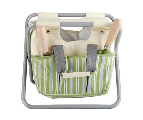 Сгъваемо столче с поставка за инструменти Stripes