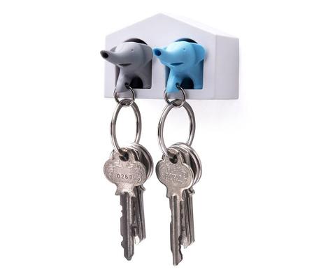 Set 2 brelocuri si suport pentru chei Elephant